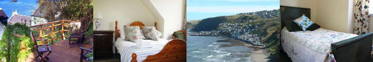 images from and around Alexander Cottage Gardenstown Aberdeenshire