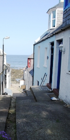 Picture of the view down the lane at Alexander Cottage Gardenstown